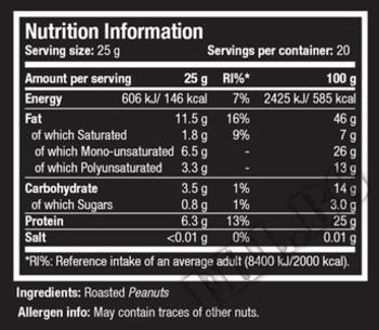 Съдържание » Дозировка » Прием » Как се пие » 100% PEANUT BUTTER 500gr » Scitec » Фъстъчено Масло