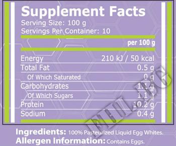 Съдържание » Дозировка » Прием » Как се пие » Liquid Egg Whites » Pure Nutrition » Протеин