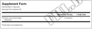 Съдържание » Дозировка » Прием » Как се пие » КУРКУМА/Turmeric 720мг » Swanson » Черен Дроб