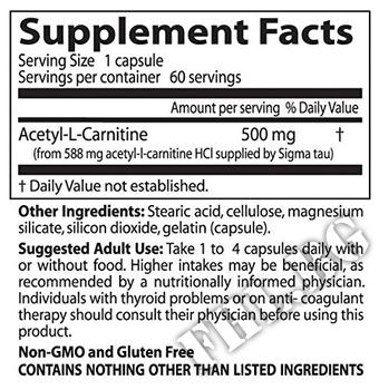 Съдържание » Дозировка » Прием » Как се пие » Acetyl L-Carnitine HCl » DOCTOR'S BEST » Ацетил L-карнитин (ALC)