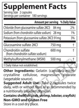 Съдържание » Дозировка » Прием » Как се пие » Glucosamine Chondroitin MSM 120 capsules » DOCTOR'S BEST » Стави и сухожилия