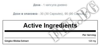 Съдържание » Дозировка » Прием » Как се пие »  Ginkgo Biloba 30 caps » MyProtein » Памет и концентрация