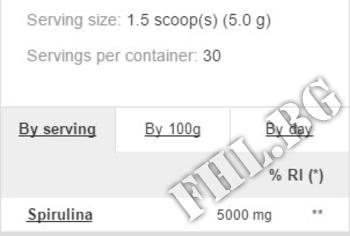 Съдържание » Дозировка » Прием » Как се пие » Spirulina Powder      » PROZIS FOODS » Зелени Храни