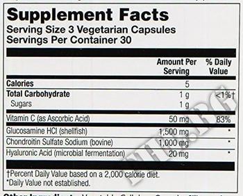 Съдържание » Дозировка » Прием » Как се пие » Gluc Hyaluronic Chond Msm » Solgar » Стави и сухожилия