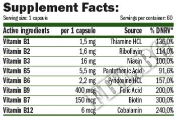 Съдържание » Дозировка » Прием » Как се пие » B-COMPLEX LIFE » AMIX » Витамин B-Complex