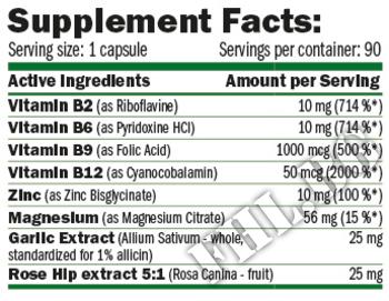Съдържание » Дозировка » Прием » Как се пие » HOMOCYS BLOCK » AMIX » Витамини и минерали