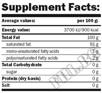 Съдържание » Дозировка » Прием » Как се пие » Mr. Poppers Coconut Oil » AMIX » Мастни киселини