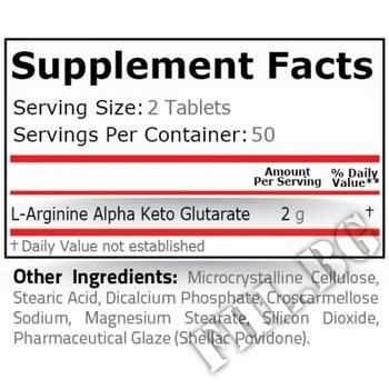 Съдържание » Дозировка » Прием » Как се пие » AAKG 1000 mg - 100 tablets » Pure Nutrition » Аргинин