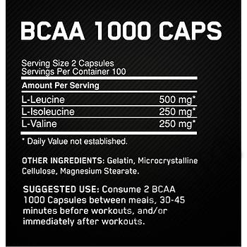 Съдържание » Дозировка » Прием » Как се пие » Optimum bcaa 1000 - 400 капсули » Optimum Nutrition » BCAA