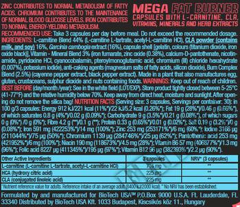 Съдържание » Дозировка » Прием » Как се пие »  FOR HER Mega Fat Burner  » BioTech USA » Липотропни фетбърнъри