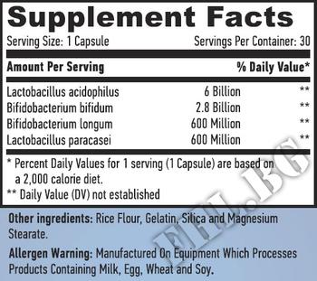 Съдържание » Дозировка » Прием » Как се пие » 10 Billion Acidophilus & Bifidus Probiotic Complex / 30 Caps. » Haya labs » Храносмилане ензими и пробиотици