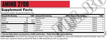 Съдържание » Дозировка » Прием » Как се пие »  Amino 2700 120 таблетки » Universal Nutrition » Комплексни аминокиселини