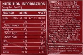 Съдържание » Дозировка » Прием » Как се пие » Syntha 6 Edge Bar 66 gr. » BSN » Протеинови Барове