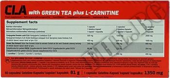 Съдържание » Дозировка » Прием » Как се пие » Cla With Green Tea Plus L-Carnitine Sport Edition » Olimp » Фет блокери CLA