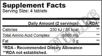 Съдържание » Дозировка » Прием » Как се пие »  Mega Amino 3200 100 tabs » BioTech USA » Комплексни аминокиселини