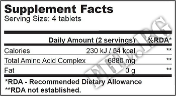 Съдържание » Дозировка » Прием » Как се пие »  Mega Amino 3200 500 tabs » BioTech USA » Комплексни аминокиселини