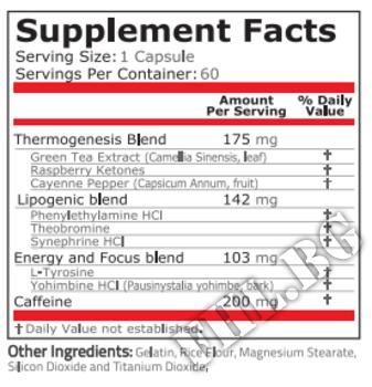 Съдържание » Дозировка » Прием » Как се пие »  Black Fire 60caps » Pure Nutrition » Термогенни фетбърнъри
