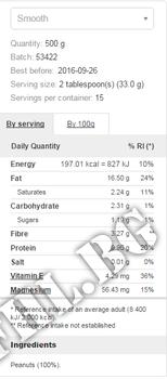 Съдържание » Дозировка » Прием » Как се пие » Peanut Butter 1000 grams crunchy » PROZIS FOODS » Фъстъчено Масло