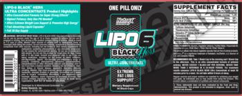 Съдържание » Дозировка » Прием » Как се пие »  Lipo-6 black hers ultra concentrate » Nutrex » Термогенни фетбърнъри