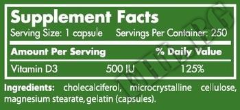 Съдържание » Дозировка » Прием » Как се пие » Vitamin D3 / 250 Caps. » Scitec » Витамин D