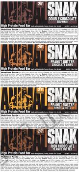 Съдържание » Дозировка » Прием » Как се пие »  Animal Snak Bar 95gr » Universal Nutrition » Протеинови Барове