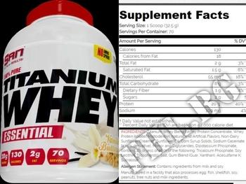 Съдържание » Дозировка » Прием » Как се пие »  100 % Pure Titanium Whey Essential 2275 gr » SAN » Суроватъчен протеин