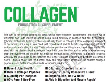 Съдържание » Дозировка » Прием » Как се пие » Collagen Unflavored 60 Serv » Universal Nutrition » Колаген