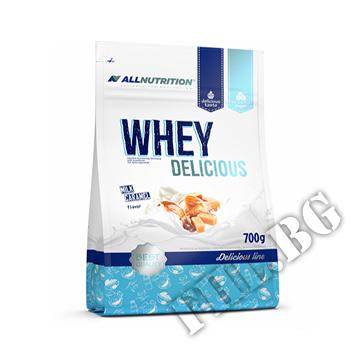 Съдържание » Дозировка » Прием » Как се пие »  Whey Delicious Protein  » ALLNUTRITION » Суроватъчен протеин