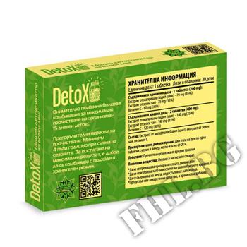 Съдържание » Дозировка » Прием » Как се пие » Детокс 30 табл » Cvetita Herbal » Детоксикация