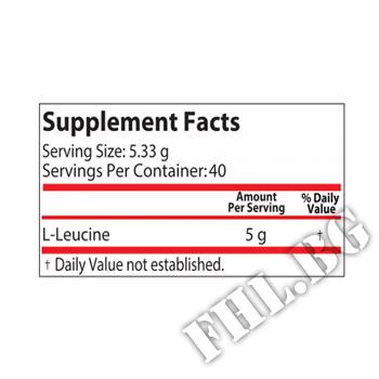 Съдържание » Дозировка » Прием » Как се пие » L-Leucine - 213 gr » Pure Nutrition » Есенциални аминокиселини