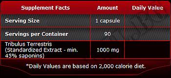 Съдържание » Дозировка » Прием » Как се пие »  Tribulus Terrestris-1000 мг-100 таблетки » Pure Nutrition » Трибулус Терестрис