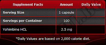 Съдържание » Дозировка » Прием » Как се пие » 100% Pure yohimbine » Pure Nutrition » Йохимбин