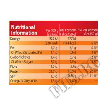 Съдържание » Дозировка » Прием » Как се пие » Protein Bread - 250 g  » Pure Nutrition » Заместител на храна
