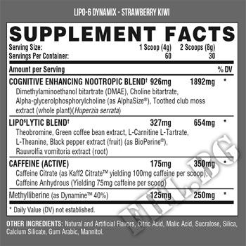 Съдържание » Дозировка » Прием » Как се пие » Lipo-6 Dynamix - 258 g  » Nutrex » Термогенни фетбърнъри