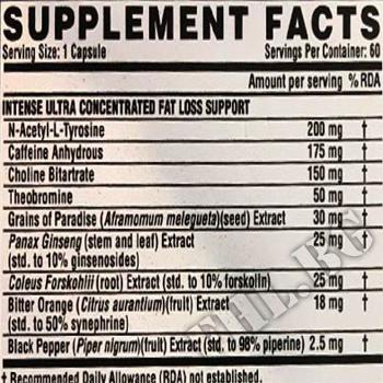Съдържание » Дозировка » Прием » Как се пие »  Lipo-6 Black Intense Ultra Concentrate INT - 60 Caps » Nutrex » Термогенни фетбърнъри
