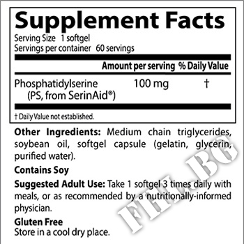 Съдържание » Дозировка » Прием » Как се пие » Phosphatidylserine with SerinAid 100 mg - 60 Caps » DOCTOR'S BEST » Памет и концентрация
