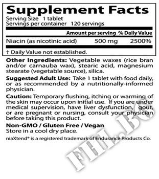 Съдържание » Дозировка » Прием » Как се пие » Niacin Sustained-Release with niaXtend 500 mg - 120 Tabs » DOCTOR'S BEST » Витамин B3