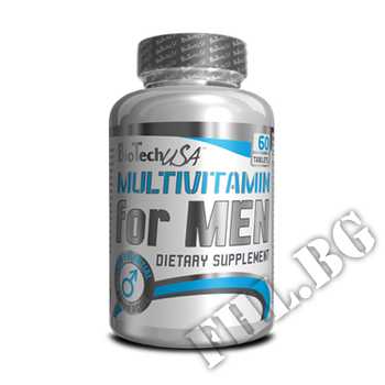 Съдържание » Дозировка » Прием » Как се пие »  Multivitamin for men  » BioTech USA » Мултивитамини