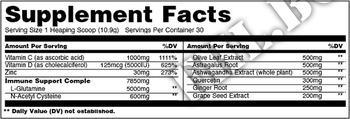 Съдържание » Дозировка » Прием » Как се пие » Animal Immune Pak Powder  » Universal Nutrition » Имунна Система