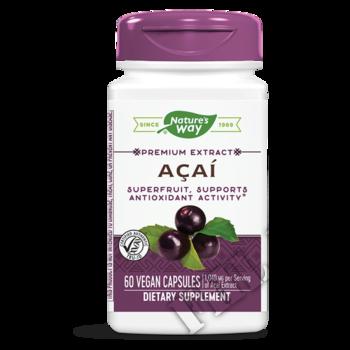 Съдържание » Дозировка » Прием » Как се пие » Acai Berry 450mg » Nature's Way » Акай бери
