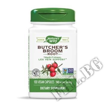 Съдържание » Дозировка » Прием » Как се пие » Бодлив залист/ Миши трън корен|Butcher Broom Root » Nature's Way » Здраве и Тонус