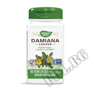 Съдържание » Дозировка » Прием » Как се пие » Дамиана лист |Damiana » Nature's Way » Билки за потентност