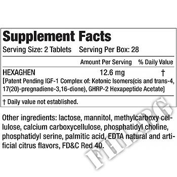 Съдържание » Дозировка » Прием » Как се пие » Hexaghen Muscle Meds  IGF-1 активатор » MuscleMeds » Стимулатори хормон на растежа