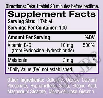 Съдържание » Дозировка » Прием » Как се пие » Melatonin 3 mg с удължено освобождаване  » Natrol » Здрав сън