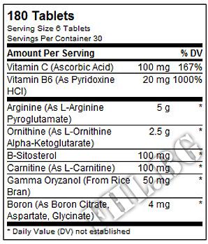 Съдържание » Дозировка » Прием » Как се пие » GH max 180tabs » Universal Nutrition » Стимулатори хормон на растежа