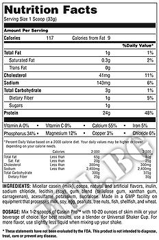 Съдържание » Дозировка » Прием » Как се пие » Casein Pro 2lb » Universal Nutrition » Казеин