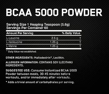 Съдържание » Дозировка » Прием » Как се пие » Instantized BCAA 5000 Powder  » Optimum Nutrition » BCAA на прах
