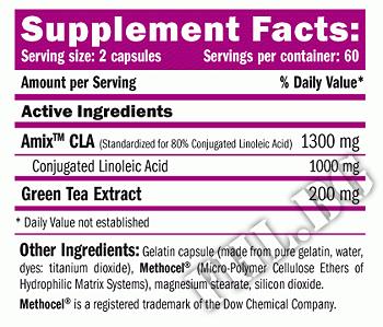 Съдържание » Дозировка » Прием » Как се пие »  CLA 1000 Green Tea » AMIX » Фет блокери CLA