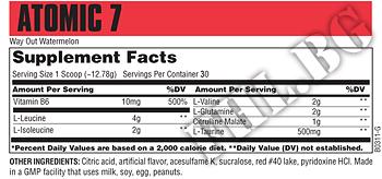 Съдържание » Дозировка » Прием » Как се пие » Atomic 7 384gr » Universal Nutrition » Качване на мускулна маса