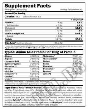 Съдържание » Дозировка » Прием » Как се пие » Whey Pure Fusion 4000гр » AMIX » Суроватъчен протеин